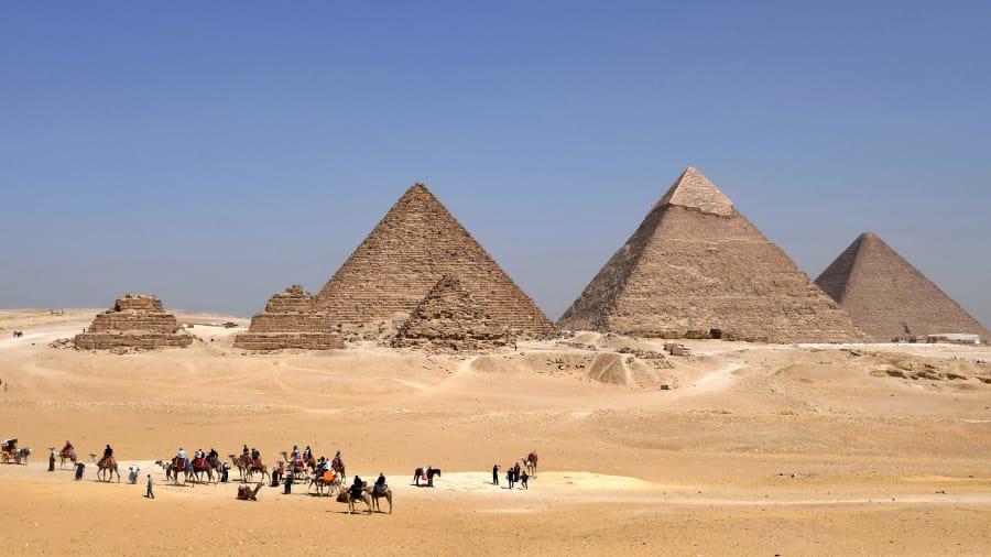 Piramidy w Gizie - Zdjęcie Afryka