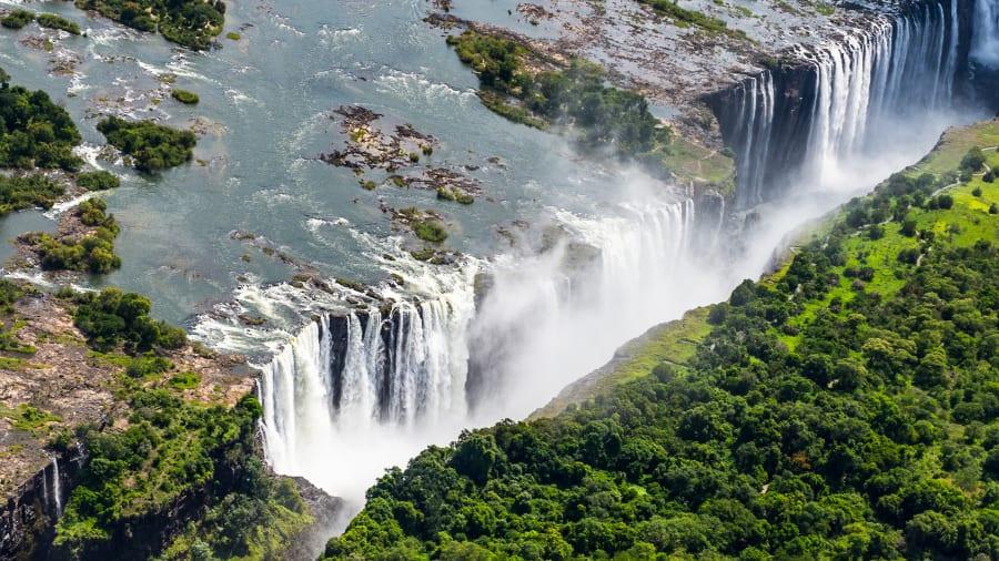 Wodospady Wiktorii - Zdjęcie Afryka