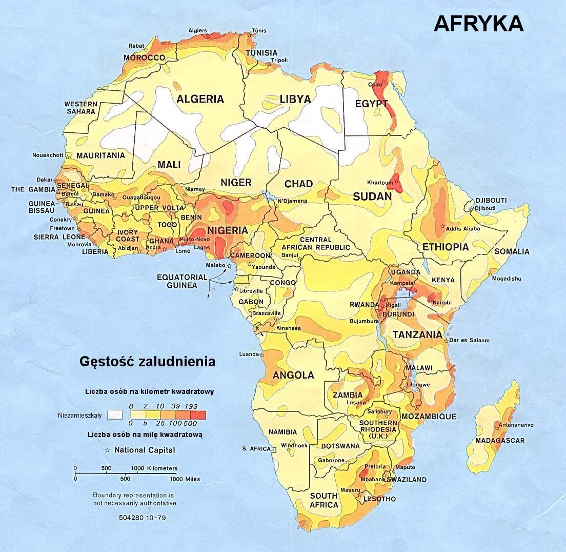 Mapa gęstości ludności