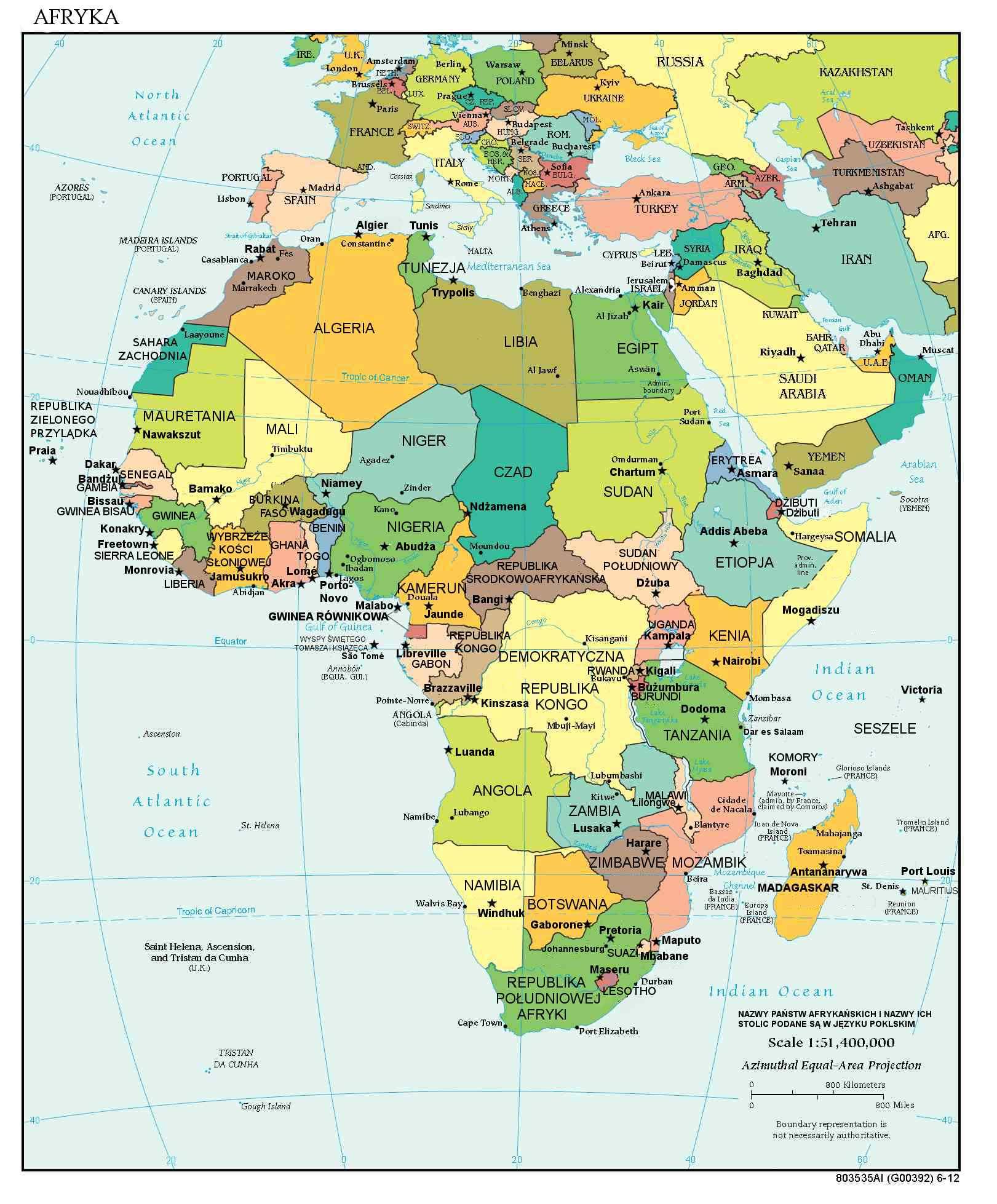 Mapa polityczna Afryki