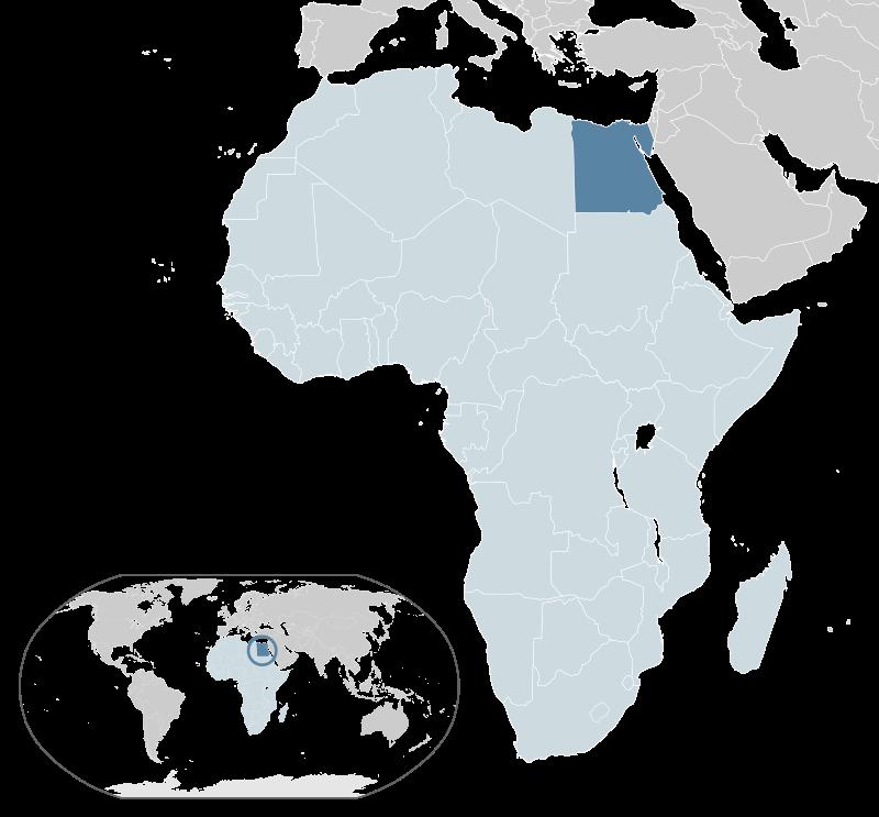 Położenie Egiptu na mapie
