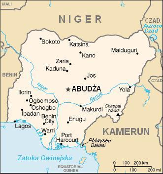 Mapa polityczna Nigerii